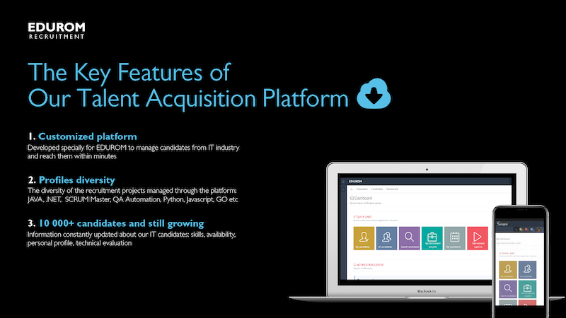 Edurom - The Key Features of Our Talent Acquisition Platform